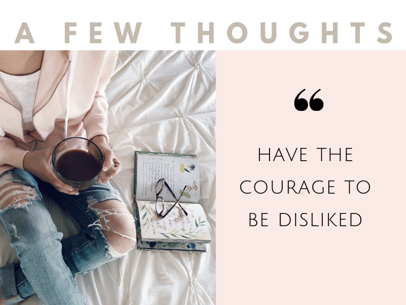 how to have courage to be disliked by other people
