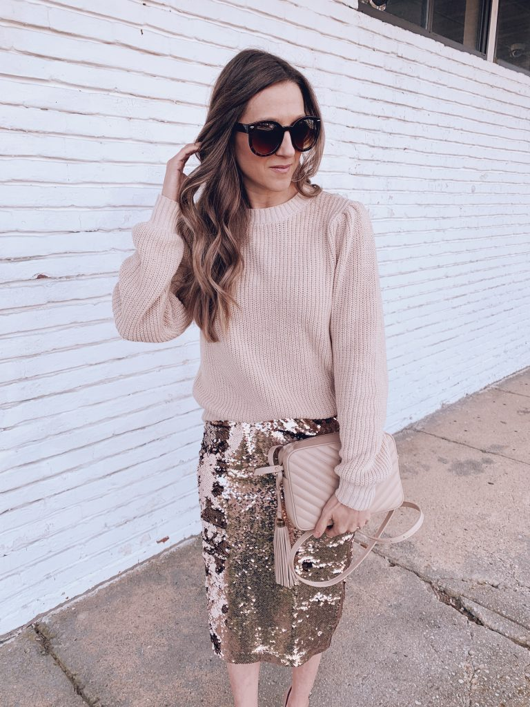 blush holiday sweater outfit from walmart