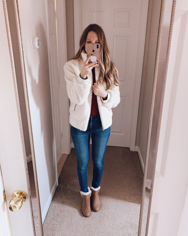 fall target clothing haul affordable outfit idea jeans boots
