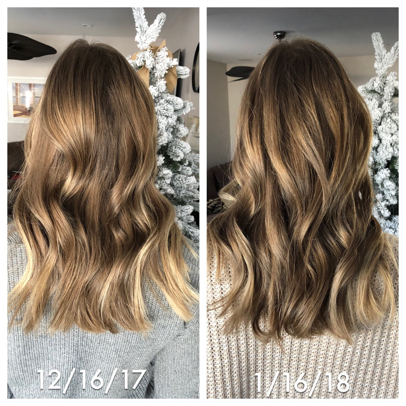 monat haircare review before and after photos