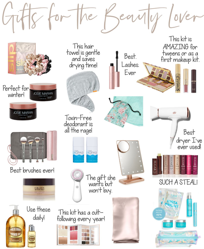 holiday beauty gift guide christmas presents makeup skincare gifts for women