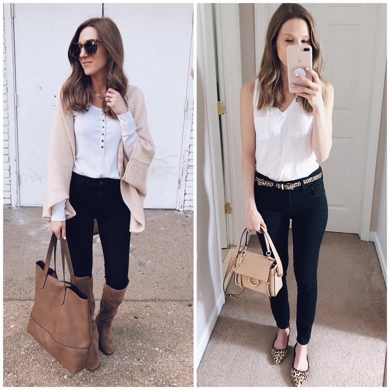best black jeans workwear office appropriate work wardrobe business teacher outfits