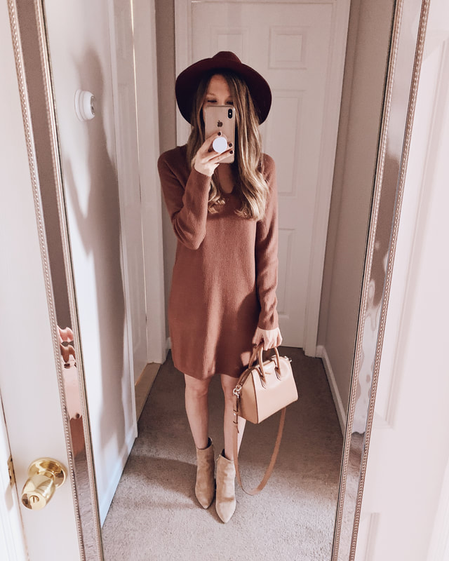 target clothing haul sweater dress fall affordable outfit idea