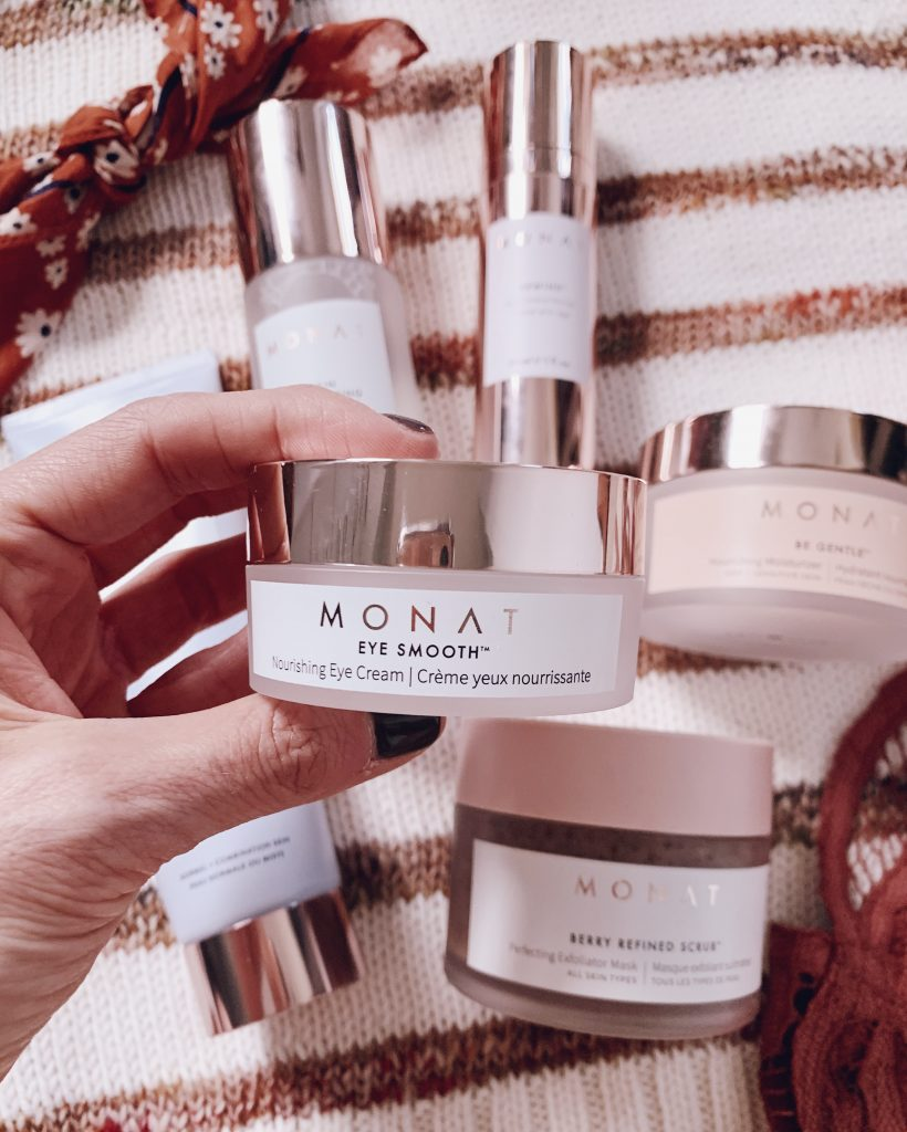 monat skincare eye smooth nourishing eye cream skincare routine for face and eyes