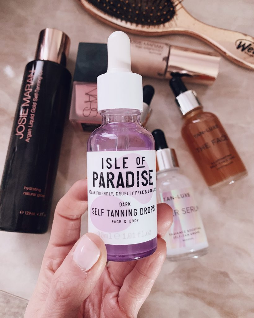 isle of paradise dark self tanning drops for face and body