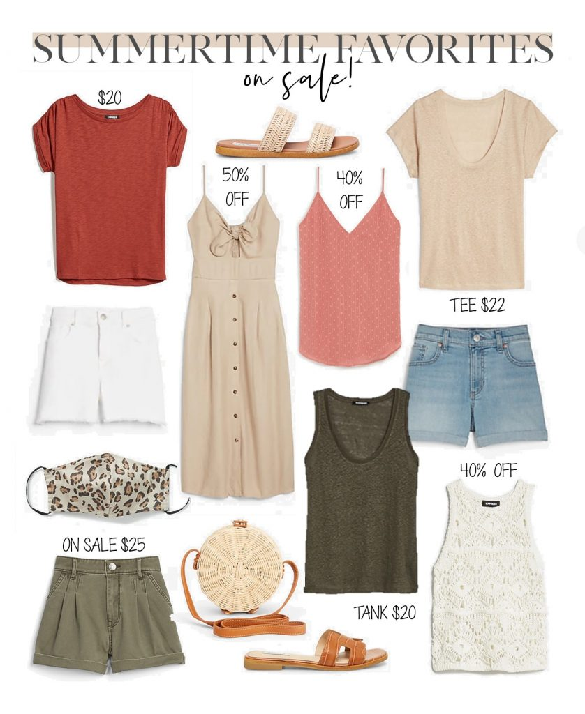 express summer sale clothing outfit collage, what to buy from the Express sale