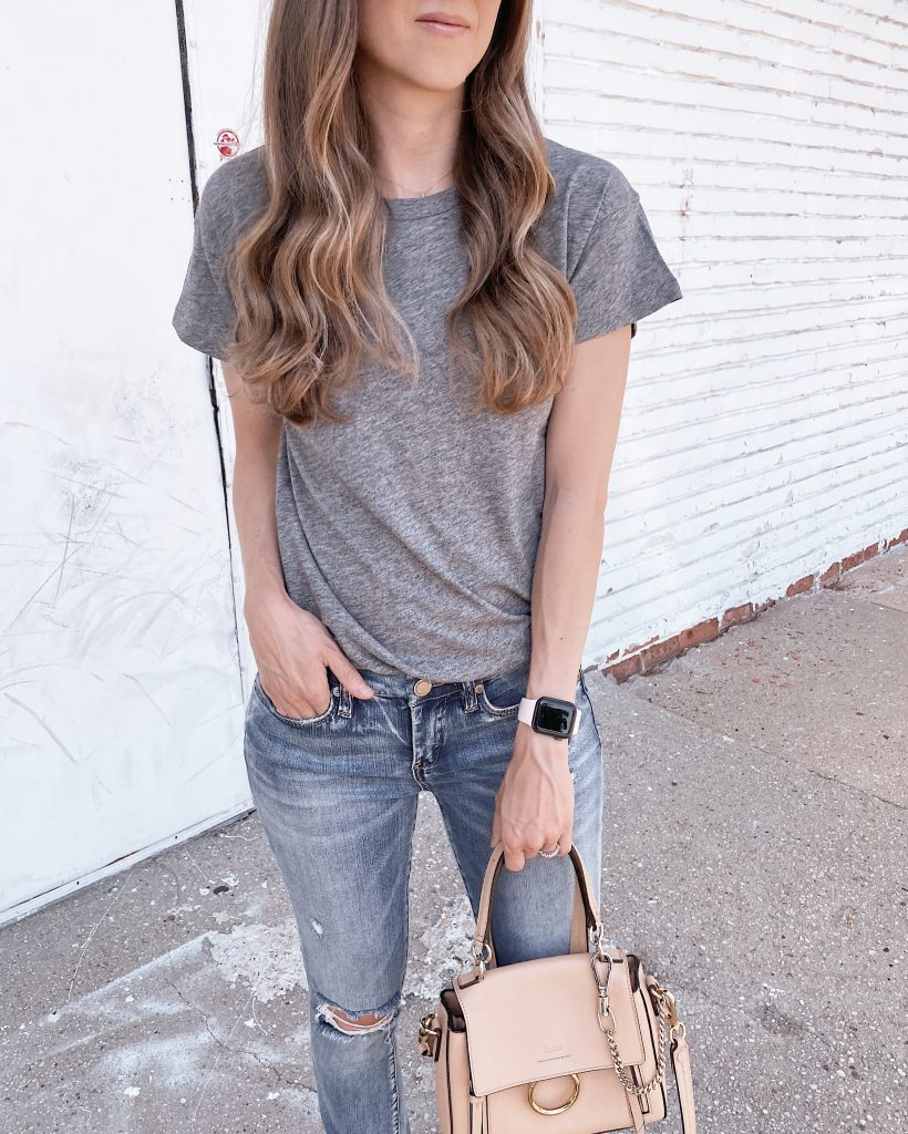 nordstrom anniversary sale outfit madewell crewneck t shirt