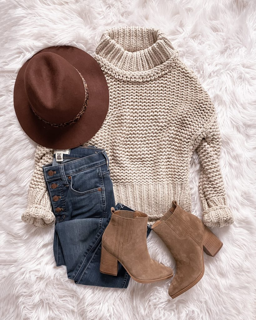 nordstrom anniversary sale outfit Free People turtleneck sweater