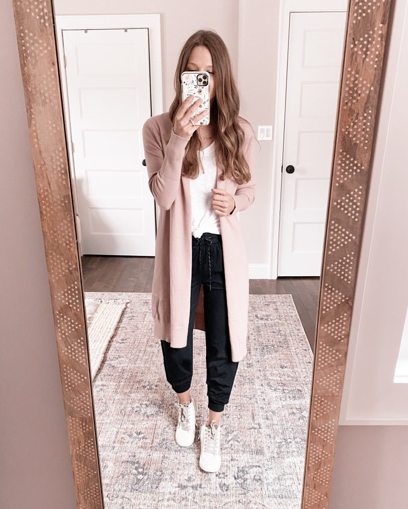 nordstrom anniversary sale outfit leith longline cardigan teacher outfit