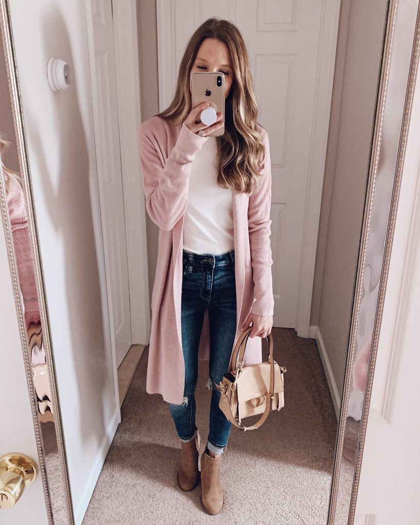 nordstrom anniversary sale outfit leith cozy long cardigan