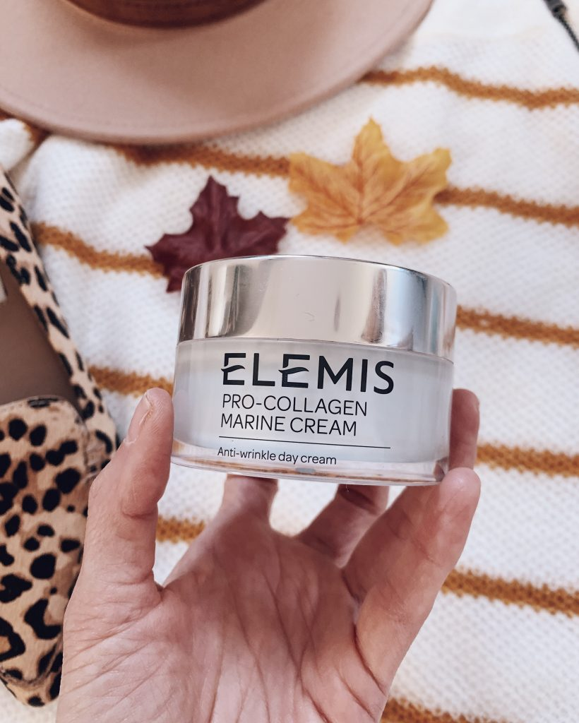 Elemis pro-collagen marine cream skincare products that combat maskne, beauty routine for mask wearers